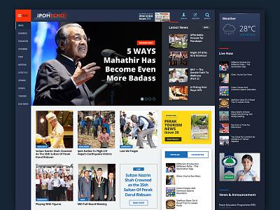 Ipoh Echo Concept Re-design newspaper malaysia ipoh redesign website