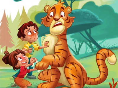 Earning your first aid stripes!! childrens book designing for children design kids illustration kids art childrens product childrens illustration first aid tiger picture book illustration