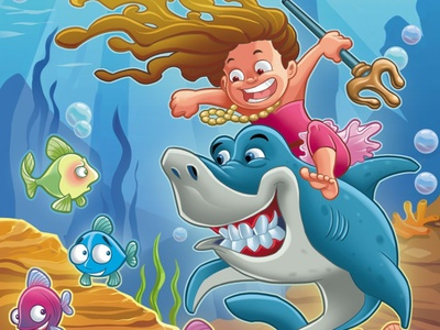 Ria goes on a rampage! illustrations character animation underwater character design watergirl shark character development picture book kids illustration kids art illustration designing for children childrens product childrens illustration childrens book