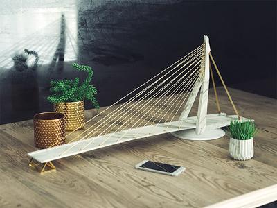 Mini bridge of Rotterdam