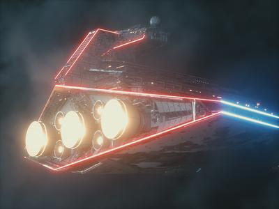 Imperial Star Destroyer LED
