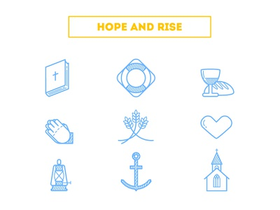 """Hope and Rise"" Icons jesus christian hope church rise icons icon free"