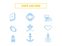 """""""Hope and Rise"""" Icons"""