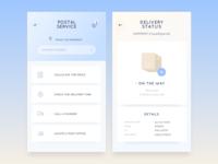 Postal service app concept