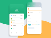 Your goals tracker menu colorfull statistics design concept clear green simple minimal friendly goals figma tracker