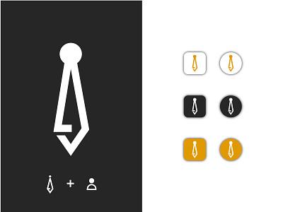 Tie Logo graphic design art type flat minimal icon vector branding ui logo