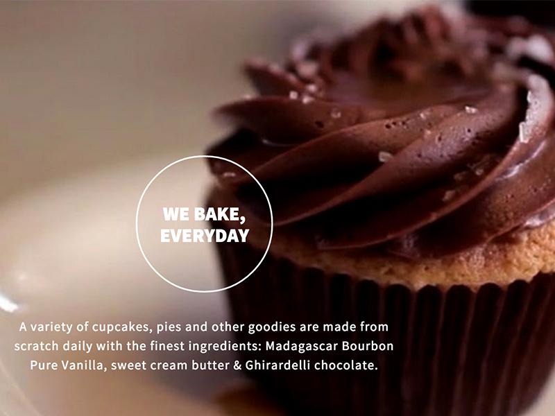Cuppies & Joe web web design cupcakes design site design site restaurant café