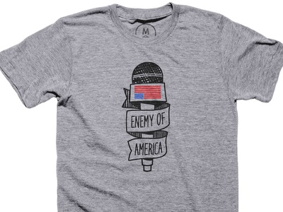 Enemy of America TEE political illustration t-shirt tee