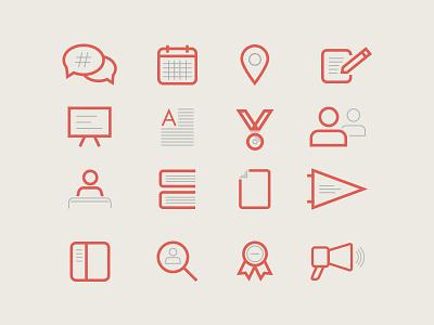 Custom Icons illustration icon web website icons