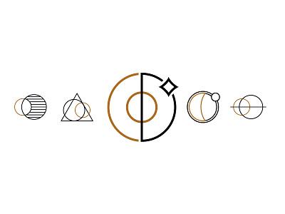 moon line art icons illustrator branding logo line art moon eclipse