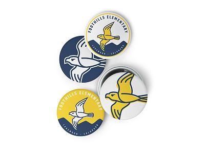 Falcon Branding - Pins craftedbyclover logo branding icon illustration falcon