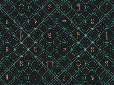 Scratch Branded Wallpaper restaurant branding branding icons patterns