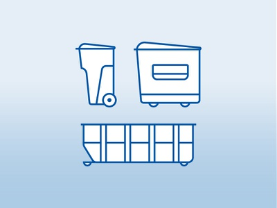 Garbage Icons craftedbyclover trash can dumpster icon set trash garbage icons