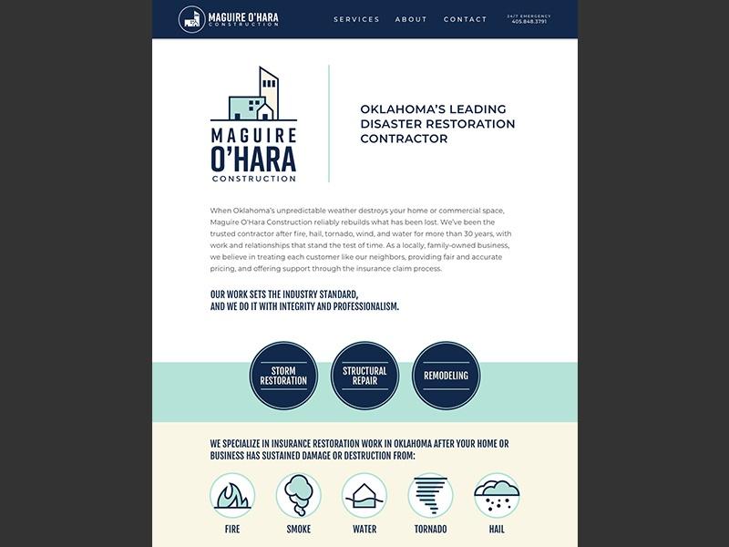 Maguire O'Hara Website icons website branding