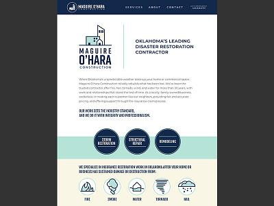 Maguire O'Hara Website icons website branding