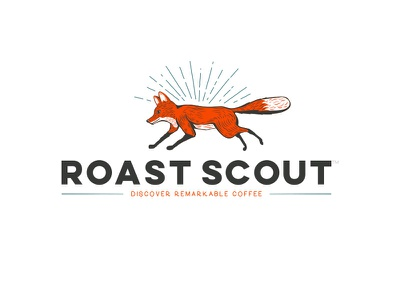 Roast Scout fox coffee logo branding