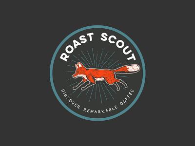 Roast Scout - badge branding logo fox badge