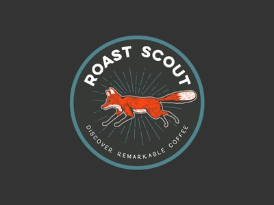 Roast Scout - badge branding logo fox badge