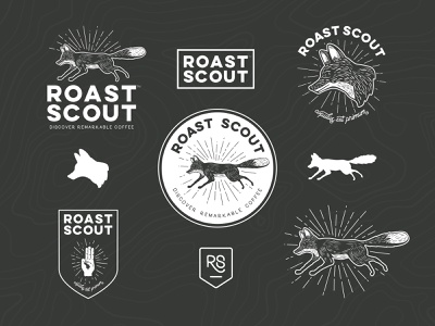 Roast Scout - family logo fox branding
