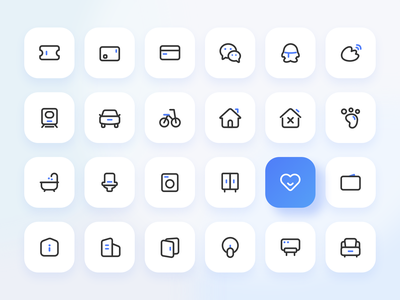 Linear Icons blue branding illustration interface website design web icon design icon uiux ux ui