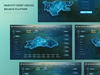 Justice Map Project c4d uiux ui map webdesign darkmode hud bigdata home page login page fuidesign fui