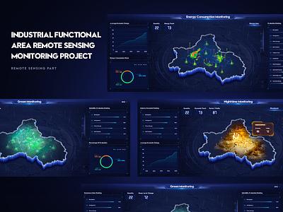 Remote Monitoring Project map hud fui data data visualization design web c4d 3d interface uiux ux ui
