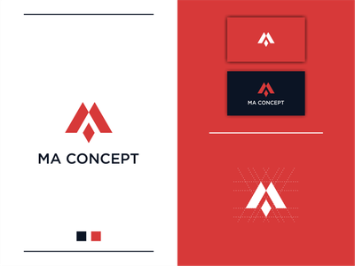 MA Concep Logo Designs logooftheday vector simple modern minimal logotype icon flat clean branding design logo