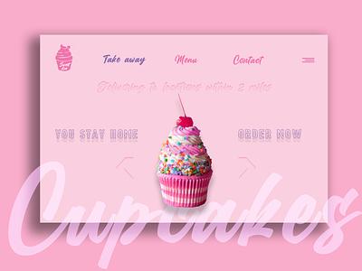 Cupcake concept dribbleweeklywarmup webdesign page design