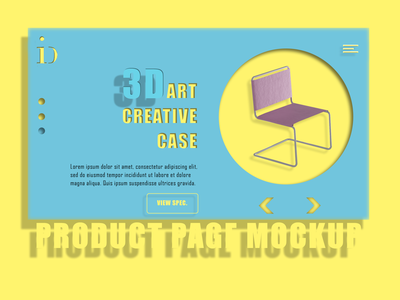 PRODUCT PAGE web design product mockup interiordesign design