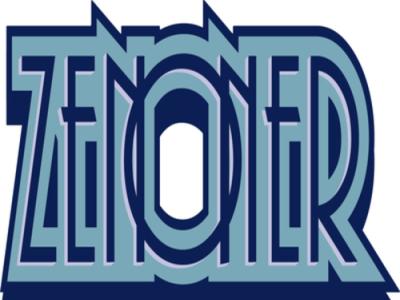 Blue illustration typography logo design