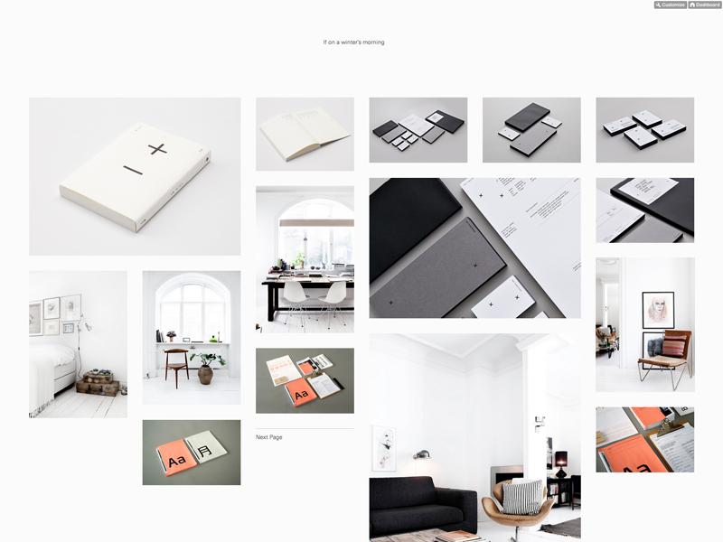 If on a winter's morning grid masonry tumblr website minimal univers responsive