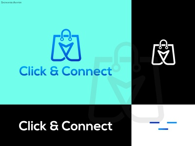 click and connect graphic design illustrator flat minimal app vector branding logo illustration design