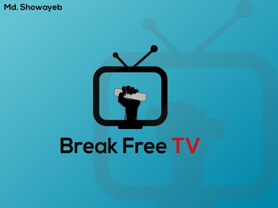 Break free tv art app minimal logo illustrator illustration graphic design flat design branding