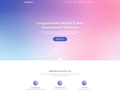 Amonowa Template template design clean web design landing page website