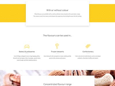Aromatic Website web design website design material baking flavours food