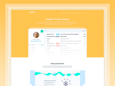 Case study and more stuff... colorful clean web design case study