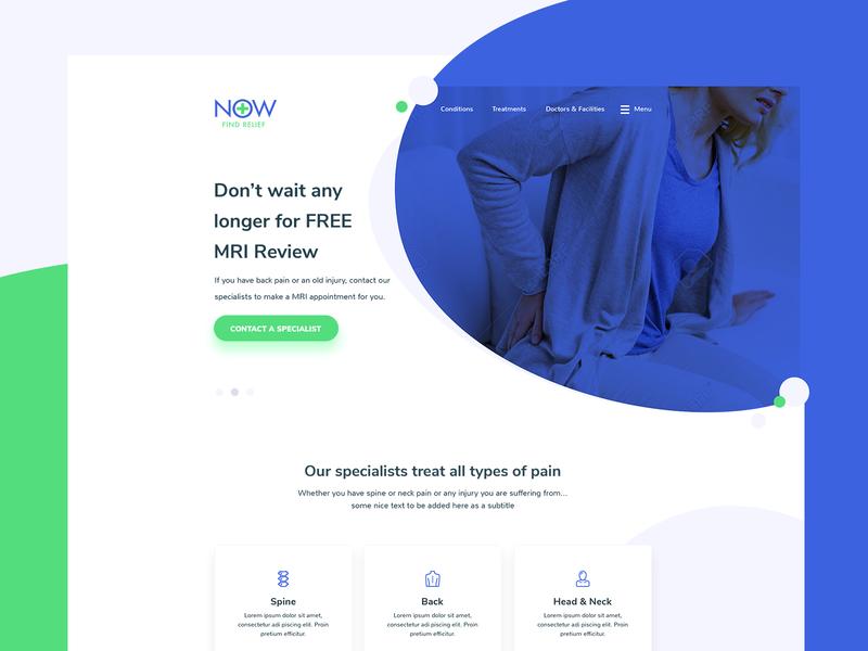Web Design clean website web design landing page