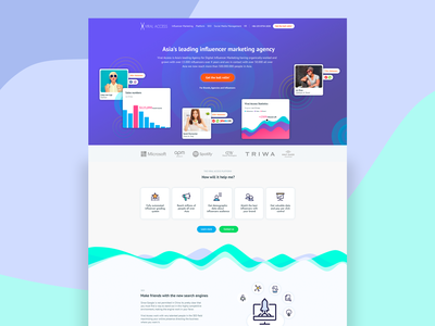 Viral Access Landing Page influencer marketing clean web design landing page website