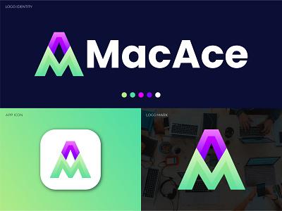 Modern Logo Design, Letter Logo, Initial Letter MA, Branding. company design brand creative logo design logos graphicdesigner