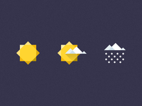 Geometric Weather Icons