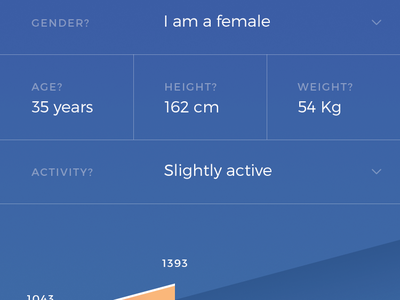 Mealplan App: Intake Calculator iphone ios form fitness list health food design ui user interface mobile app