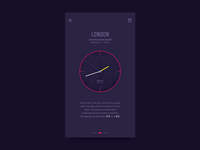 Analog Clock iOS App (Animated) by Alex Cristache on Dribbble