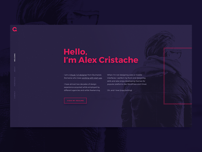 Personal Portfolio Welcome Screen