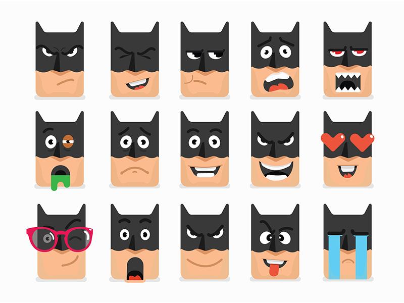 Batman emoji Color Version by Rajib Dey | Dribbble | Dribbble