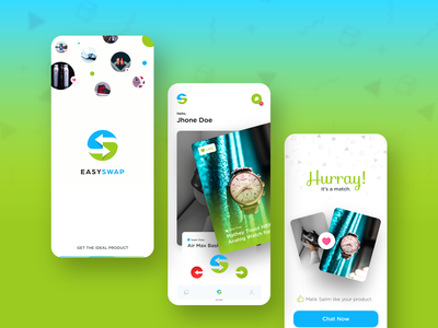 EasySwap App Design match mobile app design ui mobile app mobile ui mobile design swap product design app