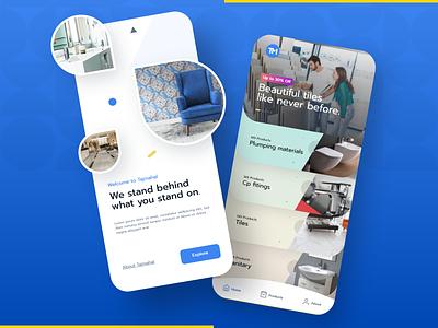 Tiles and Sanitary App apps screen app design interior granite sanitary tiles ui webdesign mobile ui mobile design mobile app app design