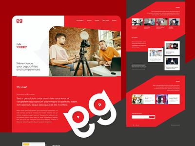 Vlogging Website Design ui ux ui design clean ui website web website design vlogging vlogger web design design webdesign