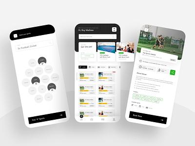 Turf Booking App Design apps apps screen apps design application app design apple design app designs booking app uidesign ui  ux uiux turf app mobile app ui design ui design