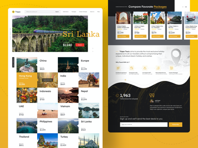 Trippo Tours & Travels - Website Ui travel agency travelling tours travel traveling travel app ui designs website design website web web design webdesign uidesign ui design ui design