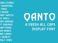 Qunto - A Fresh Display Font
